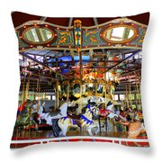 Historical Carousel In Tennessee Throw Pillow