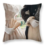 Historical Couple Arm In Arm Throw Pillow