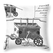 Historical Fire Engine 1728 Throw Pillow