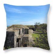 Historical Fort Wool Virginia Landmark Throw Pillow