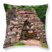 Historical Furnace Throw Pillow