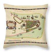 Historical Map Of Manhattan 1661 Throw Pillow