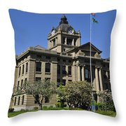 Historical Montesano Courthouse Throw Pillow