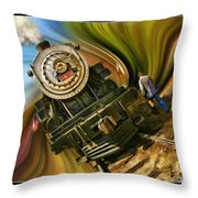Historical Niles Southern Pacific 2472 Steam Engine 1921  Throw Pillow