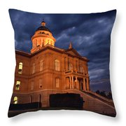 Historical Placer County Courthouse Throw Pillow