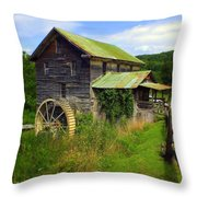 Historical Whites Mill Throw Pillow by Karen Wiles