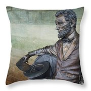 History - Abraham Lincoln Contemplates -  Luther Fine Art Throw Pillow