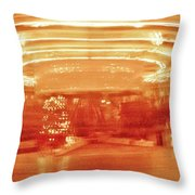 History In Motion At Night Throw Pillow