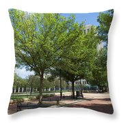 Lincoln Square Springfield Il - Luther Fine Art Throw Pillow