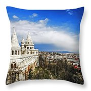 History Of Budapest Throw Pillow