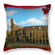 History Of The Gladiators Throw Pillow