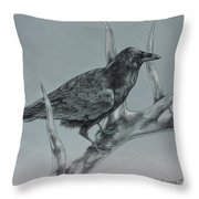 Hitchhiker Drawing Throw Pillow