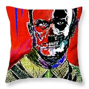 Hitler  - The  Face  Of  Evil Throw Pillow