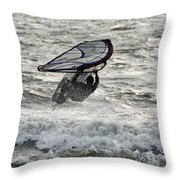 Hitting A Wave 2 Throw Pillow
