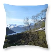 Hjorundfjord From Slogan Throw Pillow