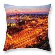 Hk Bridge Throw Pillow