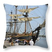 Hms Bounty Newburyport Throw Pillow