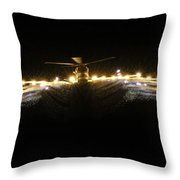 Hms Monmouth's Merlin Helicopter  Throw Pillow