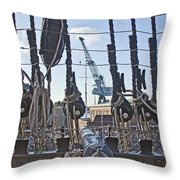 Hms Victory Cannon Throw Pillow