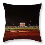 Ho Chi Minh Mausoleum Hanoi Throw Pillow