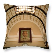 Ho Chi Minh Portrait Throw Pillow