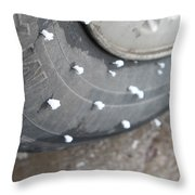 Hoarfrost On Tire Throw Pillow