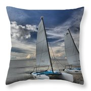 Hobie Cats On The Caribbean Throw Pillow