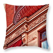 Hoboken Brownstone Art Throw Pillow