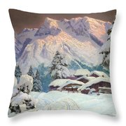 Hocheisgruppe Throw Pillow by Alwin Arnegger