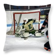 Hockey Off The Handle Throw Pillow