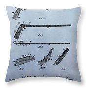 Hockey Stick Patent Throw Pillow