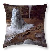 Hocking Hills Park Frozen Throw Pillow