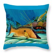 Hog And Filefish Throw Pillow