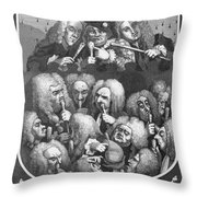 Hogarth: Physicians, 1736 Throw Pillow