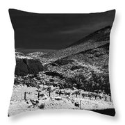 Hogbacks In The Snow Throw Pillow