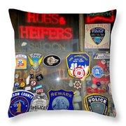 Hogs And Heifers Window Throw Pillow