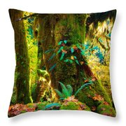 Hoh Grove Throw Pillow