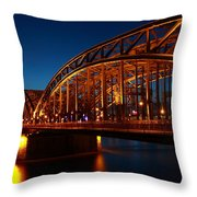 Hohenzollern Bridge Throw Pillow