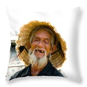 Hoi An Fisherman Throw Pillow by David Smith