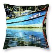 Hoi An Fishing Boat 01 Throw Pillow