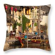 Hoi An Fishing Boat 02 Throw Pillow