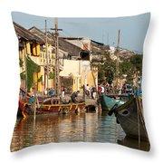 Hoi An Fishing Boats 02 Throw Pillow
