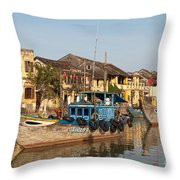 Hoi An Fishing Boats 03 Throw Pillow