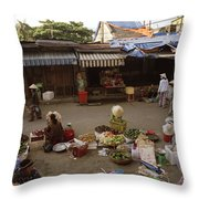 Hoi An Market Throw Pillow