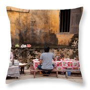 Hoi An Noodle Stall 03 Throw Pillow