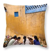 Hoi An Noodle Stall 04 Throw Pillow