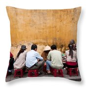 Hoi An Noodle Stall 05 Throw Pillow