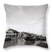 Hoi An Riverfront Throw Pillow