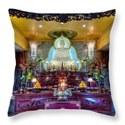 Hoi Thanh Buddhist Temple Throw Pillow