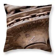 Hoist Wheel Throw Pillow